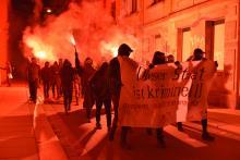 Read more about the article Antifa Dresden: Vorabendsponti anlässlich des §129 Verfahrens gegen die Antifa Ost am OLG Dresden
