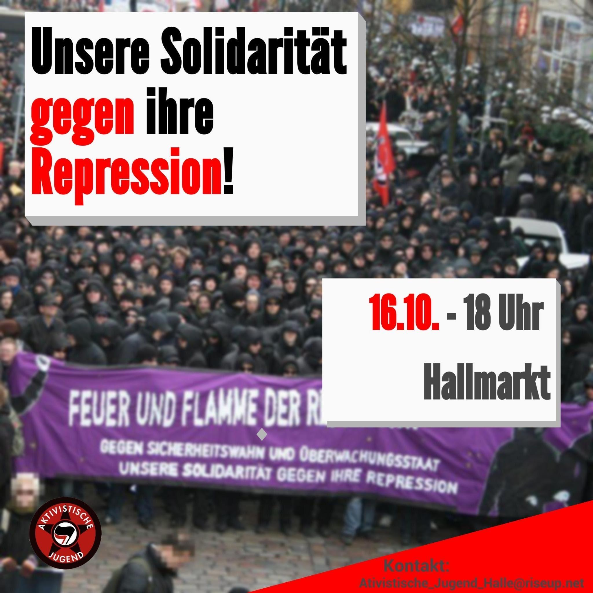 Read more about the article Antirepressionsdemo Halle